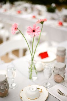 Bridal Shower Inspiration, gerbera daisies, Lazaro Press, outdoor party inspiration, Pat Moyer, pink party inspiration, Rachel Moyer, santa barbara party inspiration, tea party inspiration