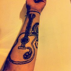 #guitar #henna #tattoo #mehndi