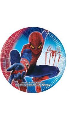 Lot de 10 Assiettes en carton Spiderman™