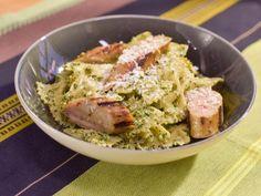Get Spinach, Walnut and Golden Raisin Pesto Pasta Recipe from Food Network