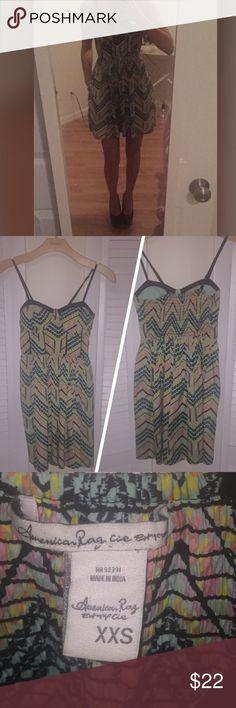 AMERICAN RAG DRESS SIZE XXS! NWOT! 💕💕💕💕💕💕💕 Fun and flirty dress from American Rag. Has cute pockets too. Purchased at Macy's. Never worn! Size XXS! 💎💎💎💎💎💎💎💎💎💎💎💎💎💎💎 American Rag Dresses Mini