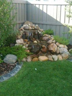 60 New Ideas For Backyard Landscaping Water Features Garden Fountains Small Backyard Landscaping, Ponds Backyard, Backyard Ideas, Backyard Waterfalls, Pond Ideas, Garden Ponds, Nice Backyard, Landscaping Ideas For Backyard, Corner Landscaping