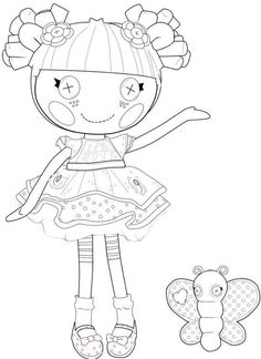 Lalaloopsy Blossom Flower Pot coloring page : Printables for Kids – free word search puzzles, coloring pages, and other activities