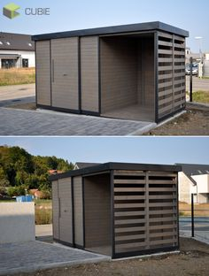 Pool Shed, Backyard Sheds, Wooden House, Bicycle Storage, Outside Patio, Garden Doors, Diy Chicken Coop, Outdoor Living, Outdoor Decor