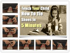 Teach Your Child To Tie Shoes In 5 Minutes | UsefulDIY.com Follow Us on Facebook ==> http://www.facebook.com/UsefulDiy