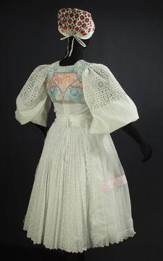 SLOVAK WEDDING  embroidered blouse dress apron vest cap