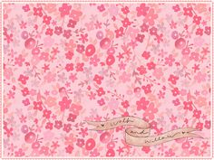 Free Desktop Wallpaper Vintage Pretty Floral Flowers Rose Rosie Sundress Dress Fabric Poppies Purple Wolf Willow Blog Pattern Freebie Download DIY Project Computer Design Style Girly Pink Daisies
