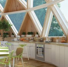 # Dome geodesic # Source by Dome Structure, Geodesic Dome Homes, Interior Architecture, Interior Design, Dome House, Earth Homes, Round House, House Layouts, Home Deco
