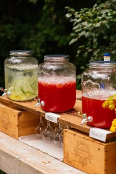 Party Punch for a Crowd || How to set up a functional outdoor bar || Simple Bites #entertaining #bar