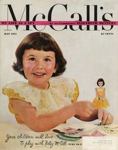 This magazine cover tells it all.  Your children will love to play with Betsy McCall.  And I sure did!