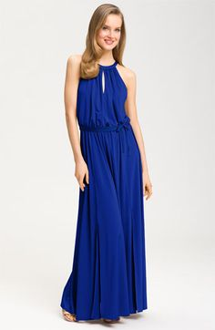 Maggy London Iridescent Jersey Maxi Dress available at Nordstrom. Love the style & color!!!
