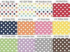 Mini Crayon Roll, Polka Dots, Pick your Colors, Wedding Favor, Birthday Favor, Crayon Roll, 5 slot holder by MrsCraftyRVing for $2.00