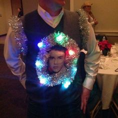 The ugly Christmas sweater champion -- Bieber style!