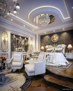 """Master Bedroom"" by Muhammad Taher, via Behance  @DestinationMars"
