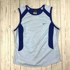 Nike Sphere Dry womens S blue sleeveless athletic running workout tank top shirt #Nike #ShirtsTops