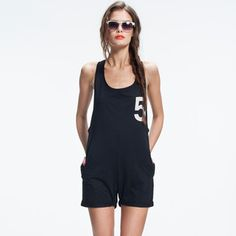 Short Jumpsuit Black, 62€, now featured on Fab.