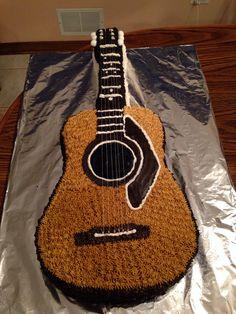 Guitar cake a friend made for a groom's cake!  So impressive!