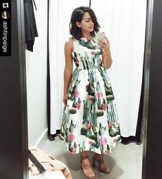 You guys don't even know how much we enjoy your #dressingroomselfie posts. Can't wait to see you wear this @ashtinpaige! . . . . #repost #blaquelabel #cacti #desertdress #selfie #nashvilletn #nativeandnomad #ootd by shopnativeandnomad