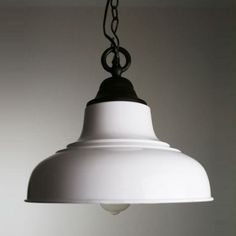 """13""""Wide White Shade Trendy Style Industrial Large Pendant Light for Dinning Room"""