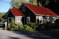 Best Blue With Red Metal Roof Home Ideas Pinterest Cement 400 x 300