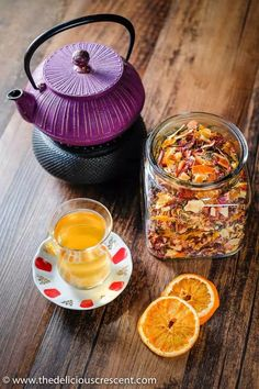 Homemade tea blend with citrus, berries, apples, roses and white tea is an invigorating infusion of sweet fruity flavors and the lively taste of antioxidant rich white tea. Fruit Tea Recipes, Blended Coffee Drinks, Apple Tea, Homemade Tea, Tea Blends, How To Make Tea, Sweet Tea, Drinking Tea
