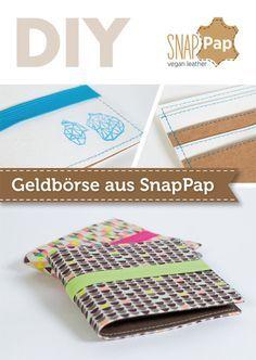 SnapPap DIY Geldbörse - kostenloses Schnittmuster & Nähvideo von pattydoo