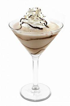 Chocolate Frosting Martini Pinnacle Vodka: 2 parts Pinnacle® Chocolate Whipped® Vodka,  1 part DeKuyper® Buttershots® Butterscotch Schnapps,  ½ parts Kamora® Coffee Liqueur,  Splash Half & Half