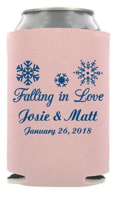 TWC-6106 - Falling In Love - Modern Wedding Can Coolers #koozie #wedding