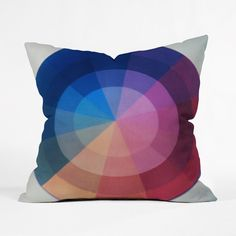 Here's a colorful, tasteful, and stylish throw pillow, perfect for the creative type who's looking to add clean lines and color to a modern office design. Woven from sturdy medium-weight polyester, and...  Find the Graphic Designer Pillow, as seen in the Creative Workspace Collection at http://dotandbo.com/collections/organize-by-design-creative-workspace?utm_source=pinterest&utm_medium=organic&db_sku=89685