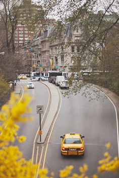Coming out of Central Park at the 79th Street Transverse, autumn. (Photographer unknown)
