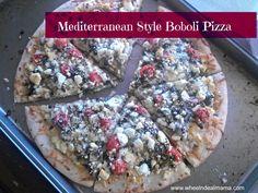Mediterranean Style Boboli Pizza Recipe  #wheel n deal momma