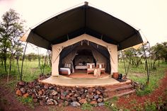 Guest tent at Naboisho Camp