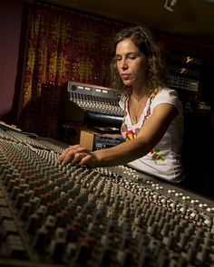 Women account for less than 5 percent of producers and engineers — but maybe not for long. (pictured: Trina Shoemaker at House of Blues Studio, Nashville)