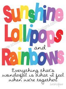 Image of Sunshine Lollipops & Rainbows