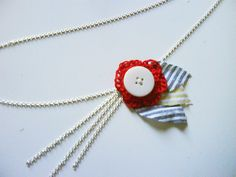 Crocheted Necklace Detail