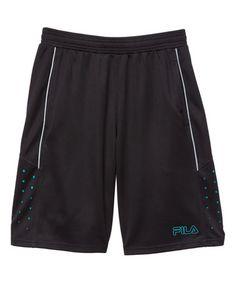 Look what I found on #zulily! Black Dot Fila Athletic Shorts - Boys #zulilyfinds