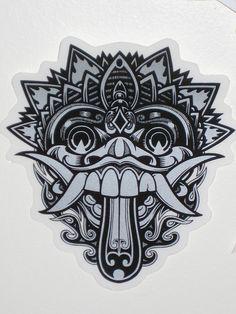 Barong Mask Tattoo Image photo - 1