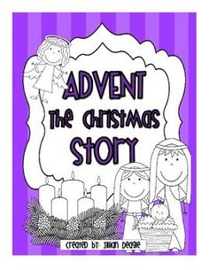 Merry Christmas fellow teachers!  This pack contains activities about Advent that can be used in school or at home. It touches on the symbolism of the advent wreath, R.A.C.K.-ing (Random Acts of Christmas Kindness) and the nativity story.   I hope you enjoy!