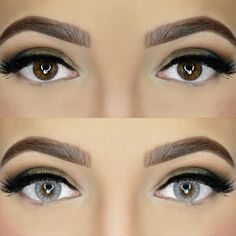 before and after brown Colored Eye Contacts, Color Contacts, Stunning Eyes, Dark Eyes, Eye Makeup, Ice, Brown, Beauty, Tinted Contact Lenses