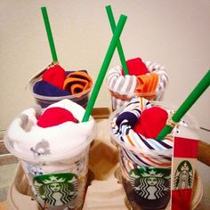 baby shower idea! starbucks gift cards, onesies, socks! super easy&cute It's Sarah with an H.//