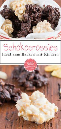 Tolles Rezept für super einfache Schokocrossies. Die Schokocrossies mit Mandeln oder Cornflakes passen auf jeden Plätzchenteller. Außerdem sind die einfache Schokocrossies perfekt zum Backen mit Kindern und ein tolles Geschenk aus der Küche.