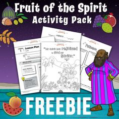 Fruit of the Spirit activity pack Sunday School Lessons, Lessons For Kids, Bible Lessons, Bible Activities, Hands On Activities, Learning Activities, Family Bible Study, Bible For Kids, Have Fun Teaching