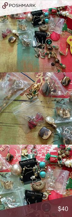 Large bundle women's vintage and new earrings New and used condition large bundle women's vintage and newer style earrings. A lot of clip clip-ons the lot of them do have names I don't know anything about collector pieces when it comes to jewelry. And you get everything shown Jewelry Earrings