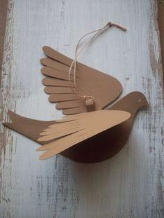 Papel de las avesMolly pájarocinco pájaros Natural por LorenzKraft