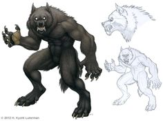 It's always a pleasure being invited to participate in the Werewolf Calendar. This time I illustrated a not-so-pretty werewolf with scars, dirt and bad . Female Werewolves, Werewolf Art, Werewolf Drawings, Fantasy, Weird World, Cool Art, Lion Sculpture, Character Design, Anime