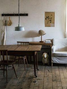 40 Popular Rustic Wooden Decor Ideas Match For Farmhouse Home Design - Living Room Decor, Interior, Home, Dining Room Design, House Interior, Rustic Living Room, Dining Room Style, Wooden Floors Living Room, Rustic House