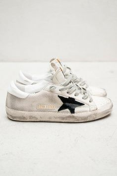 White Super Star Sne White Super Star Sneakers by Golden Goose Sneakers Fashion, Fashion Shoes, Shoes Sneakers, Fashion Outfits, White Sneakers, Baskets Golden Goose, Zapatos Shoes, Sneaker Games, Me Too Shoes