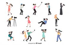 People doing different actions Free Vector Insta Photo Ideas, Photo Craft, Different, Vector Free, People, Action, Preschool, Woman, Photos