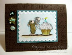 Birthday Party House Mouse   Love the little mouse.