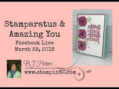 Amazing You stamp set is available for Free during Sale-a-Bration! Get is soon as this promotion is almost over! The video shares how to use the Stamparatus to create this perfectly lined up greeting. . . you'll love the tip for getting first and second generation stamping. Card created by BJ Peters of StampinBJ.com